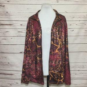 Susan Graver Plus Size Lightweight Zippered Jacket